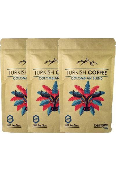 Beanofme Türk Kahvesi Kolombiya Harman 3X100 gr