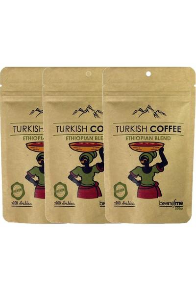 Beanofme Türk Kahvesi Etiyopya Harman 3X100 gr