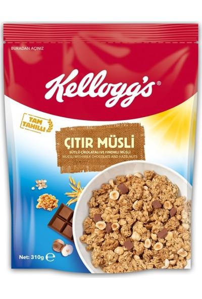 Kellogg's Çıtır Müsli Çikolata Fındıklı 310 gr 10 Adet