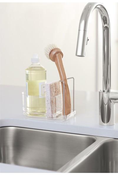 Bosphorus Tezgah Üstü Bulaşık Süngerlik,fırçalık ve Sıvı Sabunluk Kombine Set 15 x 12 x 7 cm.