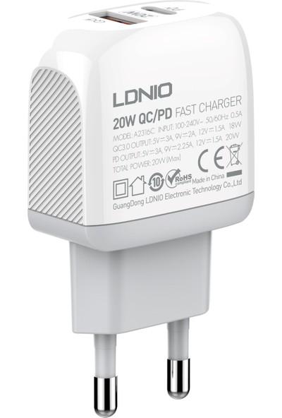 Ldnıo Hızlı Şarj Cihazı 20W Micro
