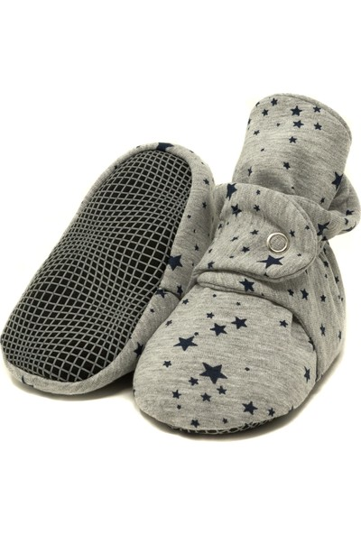 Ella Bonna Pamuk Bebek Patiği, Kaydırmaz Taban, Pamuklu Yenidoğan Pandufu Ev Kreş Ayakkabısı