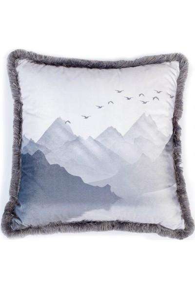 Adawall Dağ Manzarası Dekoratif Kırlent