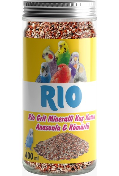 Rio Big Power Grit Mineralli Kuş Kumu 400 ml