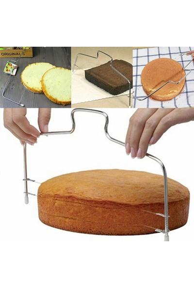 5dm Pratik Kolay Pasta Kek Dilimleme Bölme Teli Kesme Aleti Aparatı