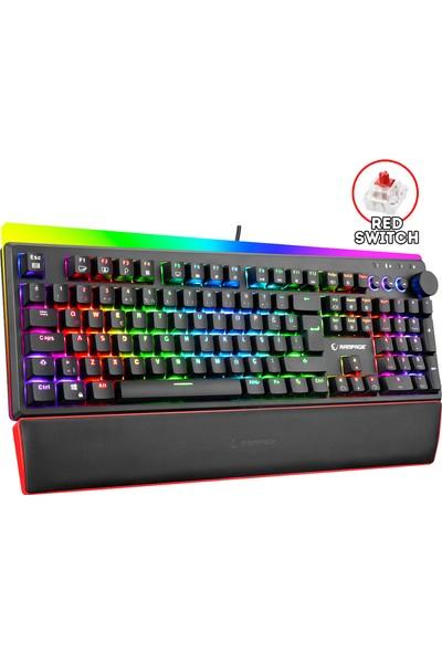 Rampage Kb-r97 X-tracer Mekanik Rgb Aydınlatmalı - Red Switch Gaming Oyuncu Klavyesi