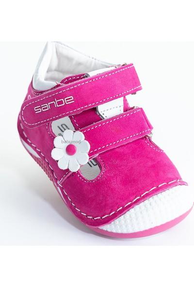 Sanbe Kız Bebek Deri Ilkadım Ayakkabı