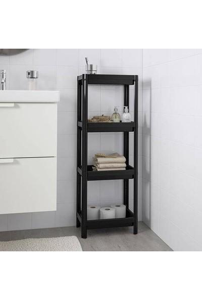 Omaş Vesken Banyo, Mutfak Rafı 4 Katlı 23*100 cm Beyaz