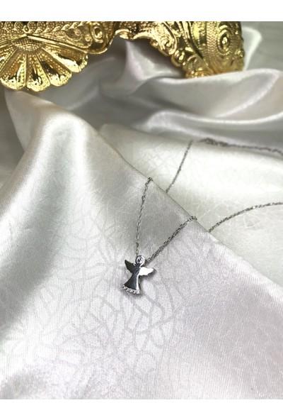 Selens Melek Swarovski Gümüş Kolye