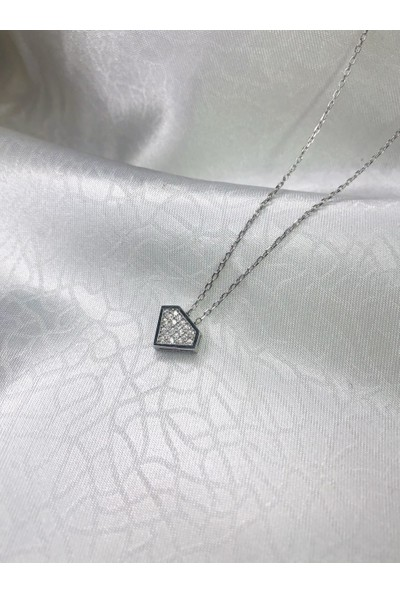 Selens Swarovski Gümüş Kolye