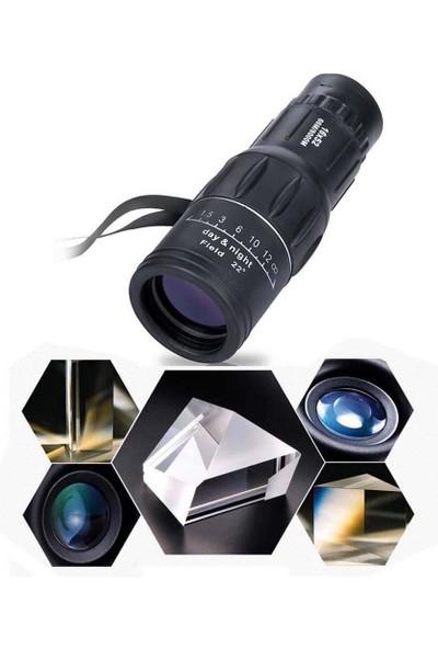 Monocular Dürbün Hd Lens Monoküler Tekli Dürdün Avcı Dağcı Güvenlikçi Seyahat Küçük Cep Için 16*52