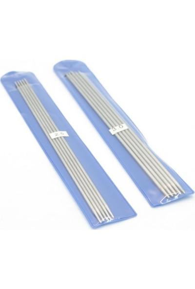 Elişihobbymarket Titanyum Çorap Şiş 2.5mm