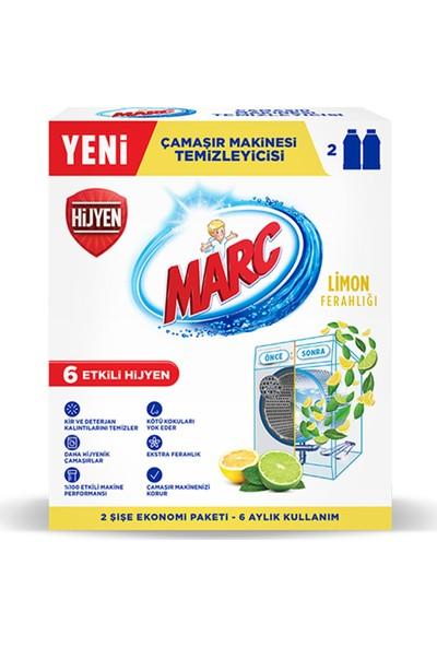 Marc Çamaşır Makinesi Temizleyici Limon Ferahlığı 250 ml x 2'li