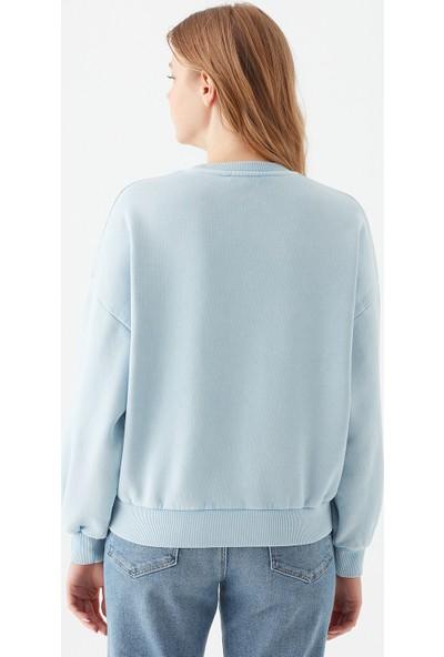 Mavi Kadın Scooby Doo Baskılı Mavi Sweatshirt 1600832-33949