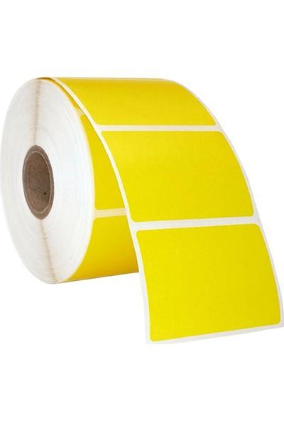 On Roll Paper 75X100 Sarı Renkli Termal Barkod Etiketi 500'LÜ Sarım 6 Rulo Toplam: 3.000 Adet
