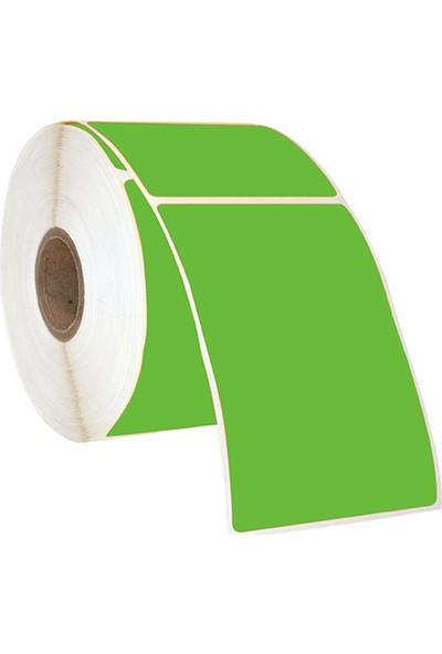 On Roll Paper 100X75 Yeşil Renkli Termal Barkod Etiketi 500'LÜ Sarım 6 Rulo Toplam: 3.000 Adet
