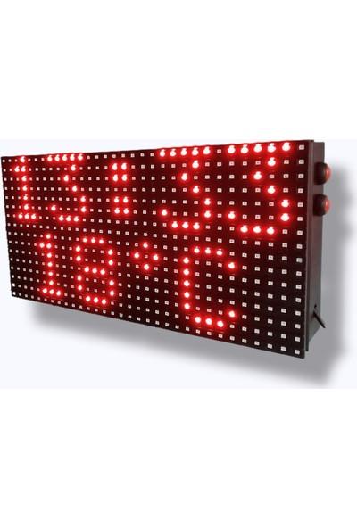 Leon Dijital LED Saat Sıcaklık Derece 32x16cm Elektronik LED