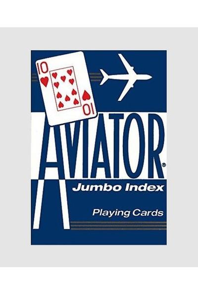 Uspcc Aviator Jumbo Index Poker Boy Mavi Oyun Kartı