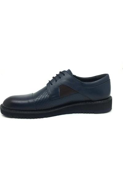 Üçlü Hakiki Deri Erkek Rahat Günlük Yazlık Bağcıklı Ayakkabı 39-45
