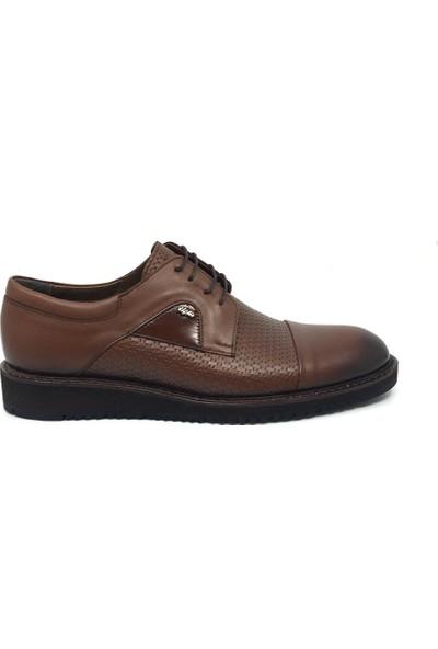 Üçlü Deri Erkek Rahat Günlük Yazlık Bağcıklı Ayakkabı 39-45