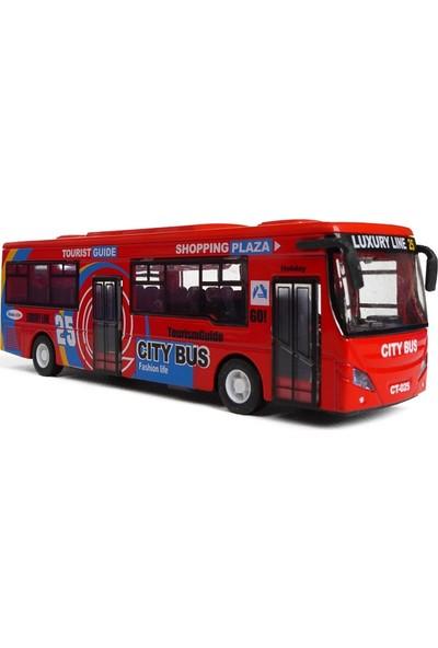 Mega Oyuncak Sesli Işıklı Die Cast Otobüs