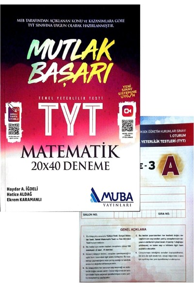 Muba Yayınları TYT Matematik Denemesi (Aydın Denemeli)