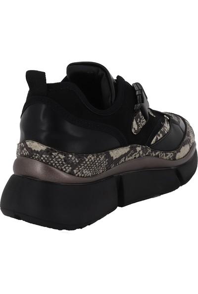 Prins Siyah Yılan Kadın Spor Ayakkabı 78