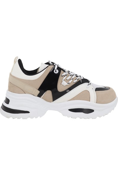Messimod Bej Kadın Günlük Spor Ayakkabı 2807