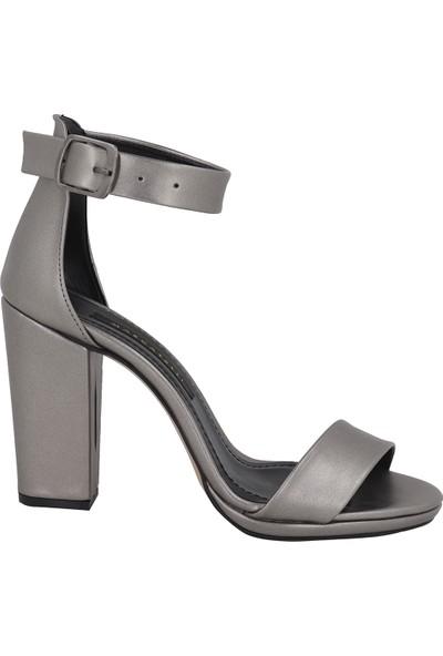 Marcamiss Füme Deri Yazlık Topuklu Kadın Ayakkabı 7407