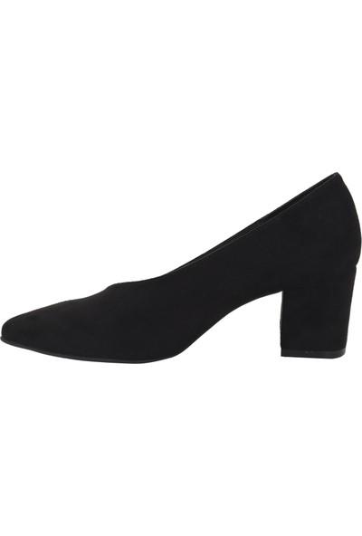 Marcamiss Siyah Nubuk Deri Kadın Stiletto Ayakkabı 7513