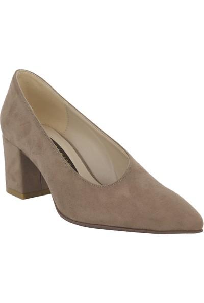 Marcamiss Vizon Süet Deri Kadın Stiletto Ayakkabı 7513