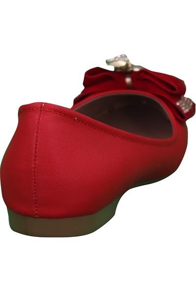 Marcamiss Kırmızı Kadın Abiye Babet 045