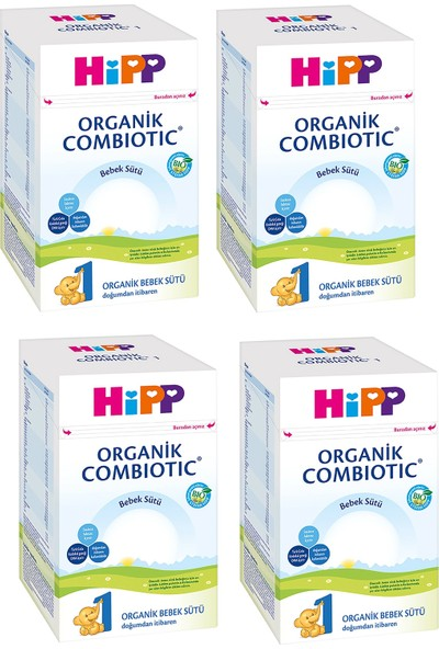 Hipp 1 Organik Combiotic 800 gr Bebek Sütü 4 Adet