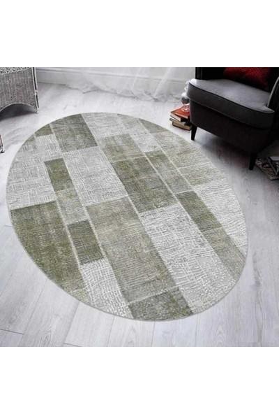 Merinos 160 x 230 cm Therapy 19124 040 Gri Yeşil Oval Halı