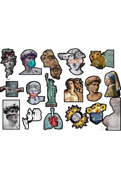 Tellgraf Sanat Temalı Laptop Sticker