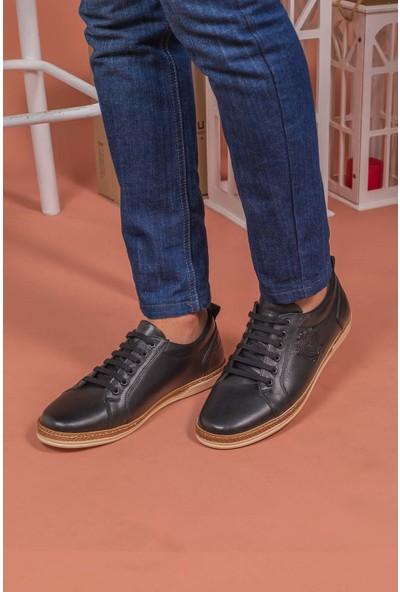 Yağlıoğlu 4247 Deri Bağcıklı Erkek Ayakkabısı
