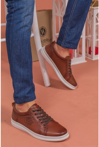 Yağlıoğlu 4248 Deri Bağcıklı Erkek Ayakkabısı