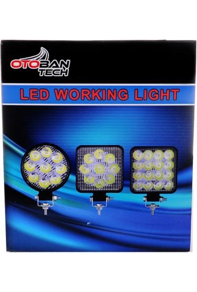 Otoban Çalışma Lambası Yuvarlak 14 LED 42 W