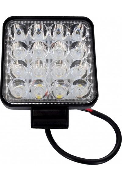 Otoban Çalışma Lambası Kare 16 LED 48 W
