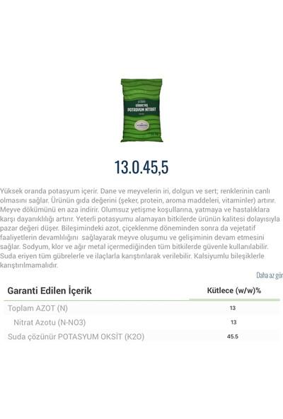 Gübretaş Potasyum Nıtrat 13 0 45,5 Bahçe Meyve Sebze Bitki Besini Geliştirici Gübre 25 kg