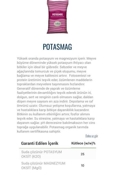 Gübretaş Potasmag Toz Potasyum ve Magnezyum Içerikli Potasyum Sülfat Organik Gübre 25 kg