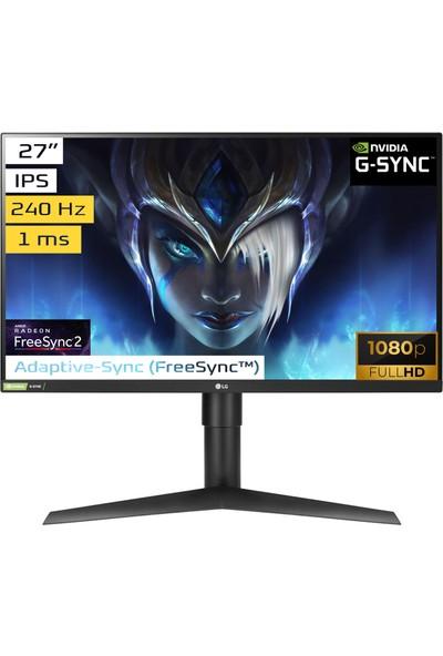 "LG 27GN750-B 27"" 240Hz 1ms (HDMI+Display) G-Sync FullHD IPS Monitör"