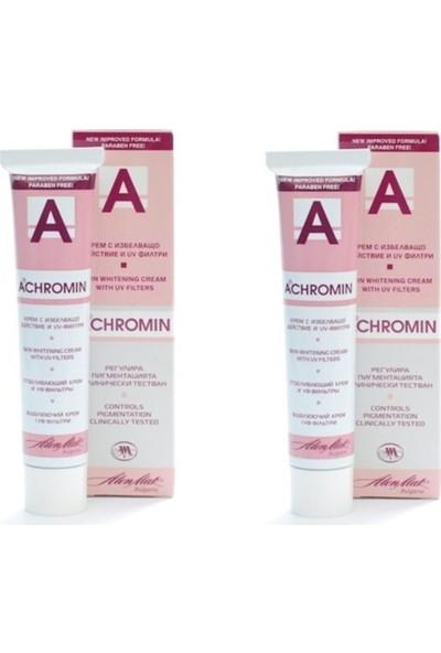 Achromin Leke Giderici ve Leke Karşıtı Besleyici Krem 2x45 ml