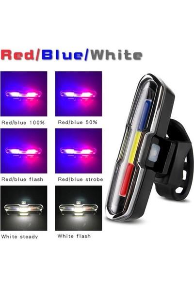 Forte Gt Bisiklet USB Şarjlı LED Kırmızı Mavi Beyaz Xbyc 6017-3