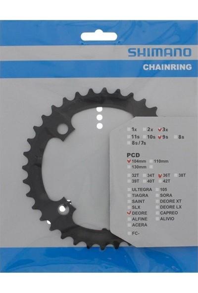 Karışık Shimano Deore FC-M590 / FC-M591 104MM Bcd 36T Orta Yaprak Dişlisi