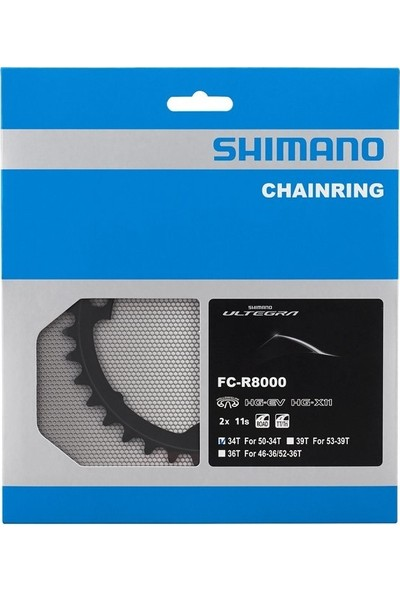 Karışık Shimano Aynakol Dişlisi 34T-ULTEGRA FC-R8000 ( 110 Bcd )