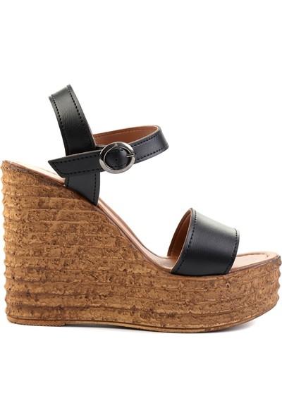Bambi̇ Siyah Kadın Açık Ayakkabı L0522210009