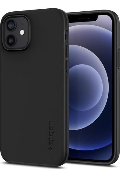 Spigen Apple iPhone 12 / iPhone 12 Pro Kılıf Thin Fit Pro Black - ACS01696