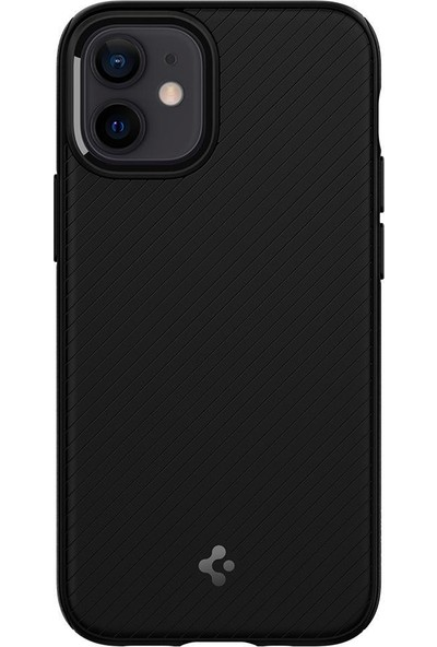 Spigen Apple iPhone 12 Mini Kılıf Mag Armor Matte Black - ACS01866