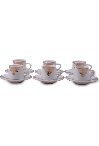 Vadi Lüks Porselen 6'lı Türk Kahvesi Fincan Takımı